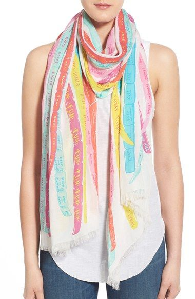 kate spade new york u0027ticketsu0027 print scarf Accessories - free ticket printing