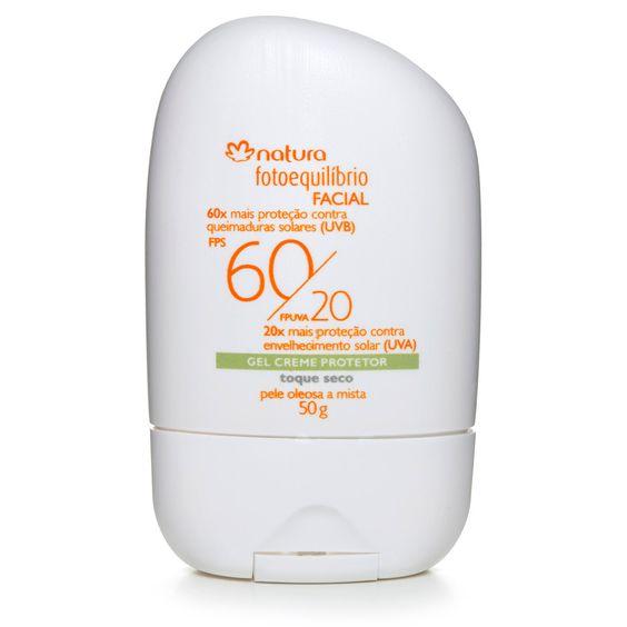 Gel Creme Protetor Facial FPS 60/ FPUVA 20 Pele Mista a Oleosa Fotoequilíbrio - 50g | Rede Natura