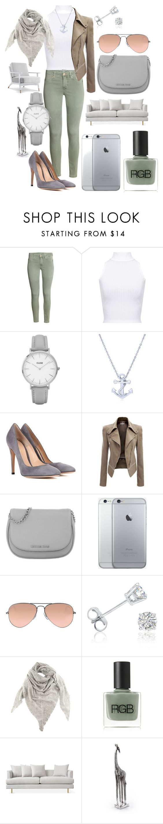 """Alex's design."" by elizabethfrey ❤ liked on Polyvore featuring WearAll, Topshop, BERRICLE, Gianvito Rossi, Michael Kors, Ray-Ban, Amanda Rose Collection, Black, RGB and Puji"