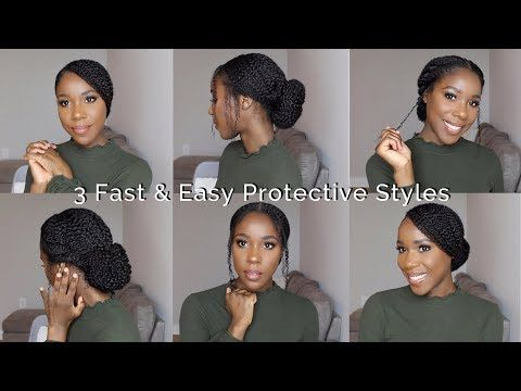 3 Fast Easy Protective Styles Natural Hair Thelifestyleluxe Youtube Natural Hair Styles Professional Natural Hairstyles Protective Styles
