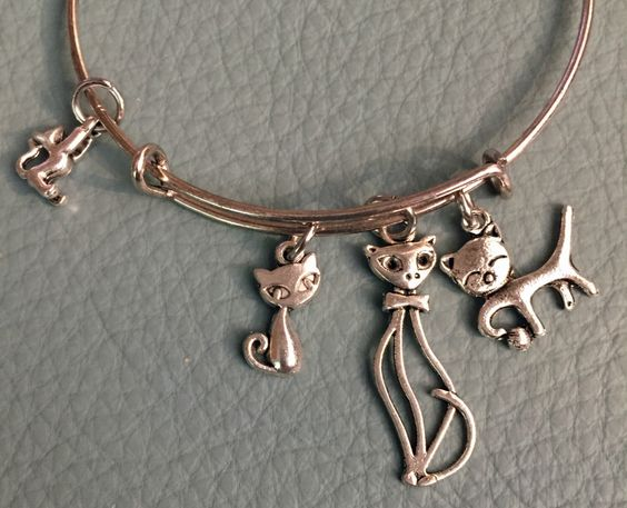 Cat Lover Silver Bangle  Inspired by Alex & Ani Kitty Cat Lover Bracelet, Playful cat, Pet, Kitten, Crazy Cat Lady, Fast Shipping by Arrimage on Etsy https://www.etsy.com/listing/209568122/cat-lover-silver-bangle-inspired-by-alex