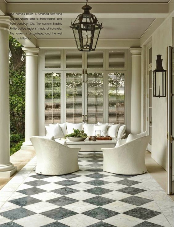 Shutters to block the view, provide shade or to just look chic   Suzanne Kasler