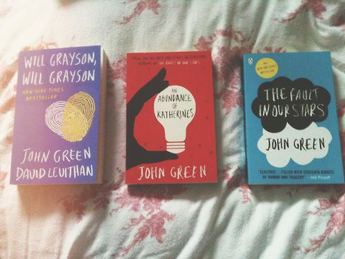 i plan to get every existing john green book in english and in german.. didn't come so far yet but i'm on it:D  Die nächsten Englishen Bücher, die ich lesen möchte♥