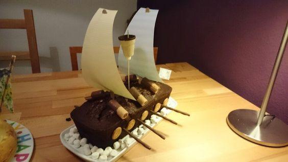 Piratenschiffkuchen