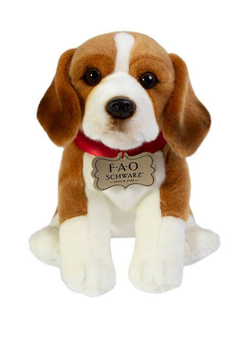 Fao Schwarz 10 Inch Plush Beagle Toy Beagle Plush Toys