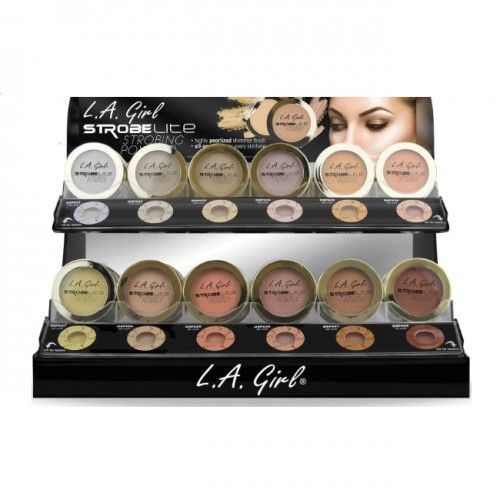 L.A. GIRL Strobe Lite Powder Display Case Set 144 Pieces