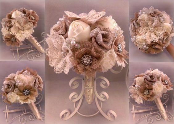 ON SALE Rustic Romantic Burlap and Lace by PetalsAndStardust