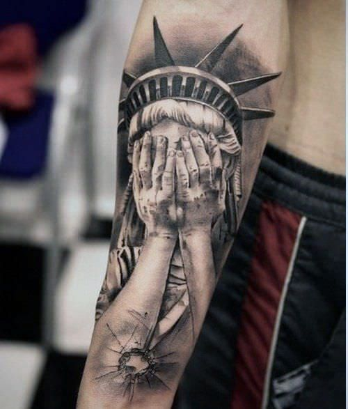 155 Forearm Tattoos For Men Women With Meaning Wild Tattoo Art Liberty Tattoo Statue Of Liberty Tattoo Arm Tattoos For Guys