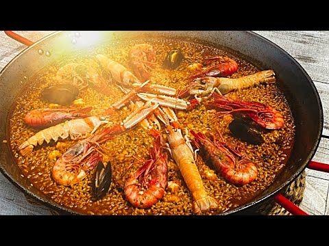 Paella De Marisco Valenciana Autentica Receta Casa Arturos Paella Y Arroz Youtube Paella De Mariscos Paella Paellas Receta