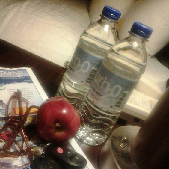 Purh20 natural spring water at the Hilton Garden Inn, SUNNY Albany, NY.
