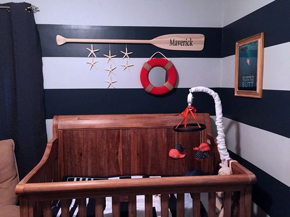 "52"" Personalized Raw Wood Nautical Nursery Decor Paddle with Painted Name / Optional Starfish Strings / Name Sign / Canoe Oar / Beach by seaweeddesigns on Etsy https://www.etsy.com/listing/197651600/52-personalized-raw-wood-nautical"