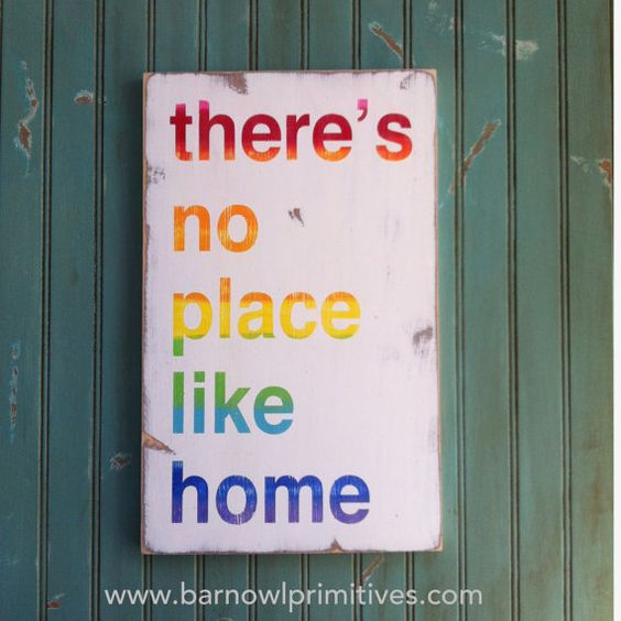Theres No Place Like Home  Typography Word by barnowlprimitives on Etsy