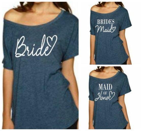 Bride TShirt Bridesmaid Shirt Maid of Honor par BridalBlissCouture
