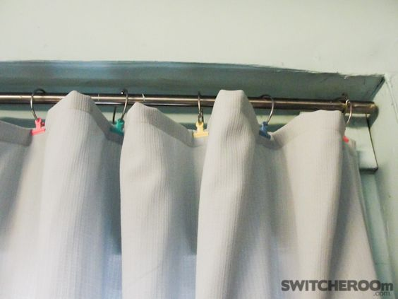 Door Curtains cheap outdoor curtains : I used cheap shower rings and binder clips for my outdoor curtains ...