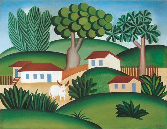 Paisagem com Touro, 1925, Tarsila do Amaral