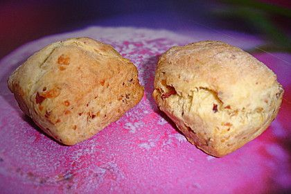 Scones mit Schinken und Käse, ein leckeres Rezept aus der Kategorie Resteverwertung.