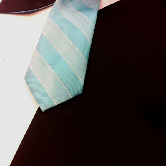 The tie for one of the groomsmen