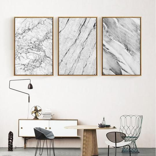 Abstract Grey Marble Canvas - Ivy and Wilde – Art + Interior