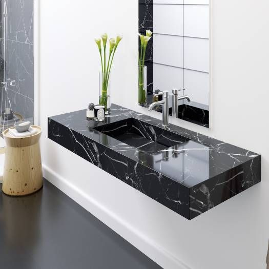 Marmor Waschbecken Riluxa Com Decoracao Banheiro Pequeno