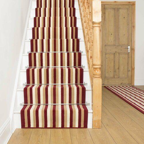 Rosalind Wheeler Innen Außenteppich Allan In Rot Wayfair De | Wayfair Stair Carpet Runners | Textured Carpet | Rosalind Wheeler | Staircase Makeover | Treads Carpet | Brown Beige