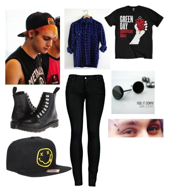 """""""Meeting the punk rock kitten"""" by flannel-queen ❤ liked on Polyvore featuring 2LUV and Dr. Martens"""