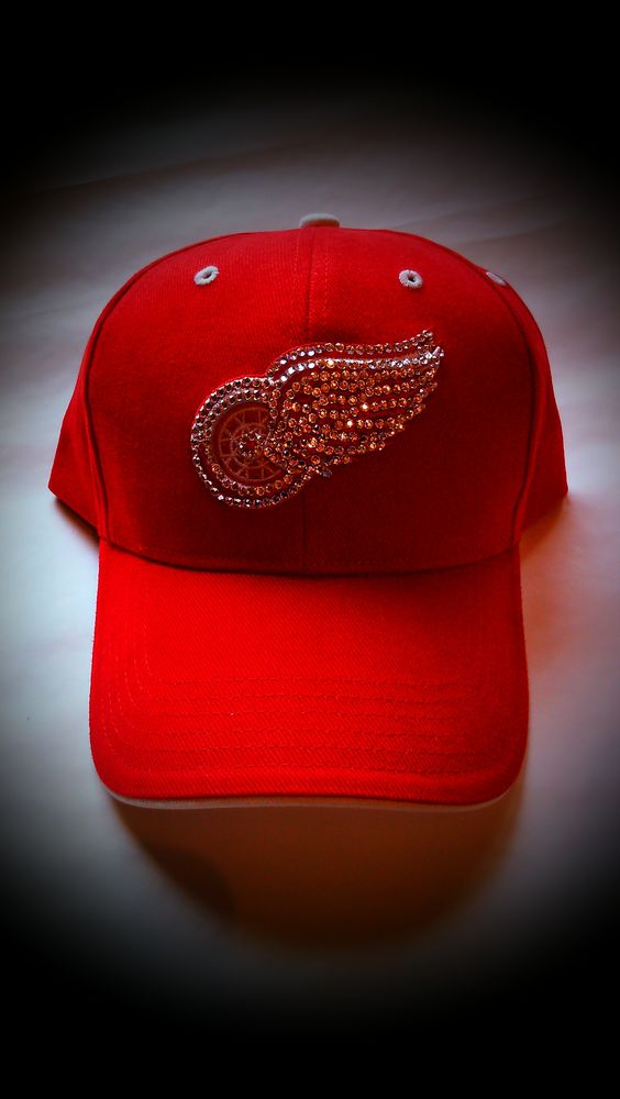 Custom Detroit Red Wings Hat only from www.glitz4you.com!