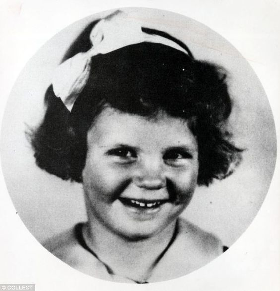 Troubled childhood: Sylvia Plath, (pictured aged five) tried to cut her throat when she was 10-years-old
