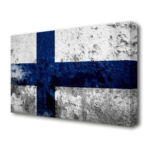 2 x Finland Flag Map Vinyl Sticker Travel Car Luggage #9050