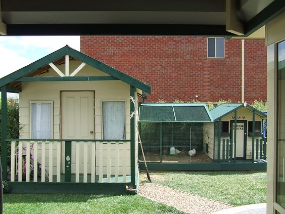 chook house connected to the cubby: