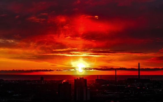 Canadian skies on fire