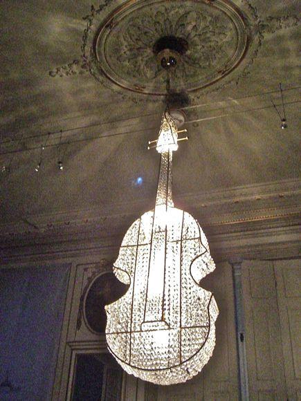 Cello Chandelier at Escher Museum