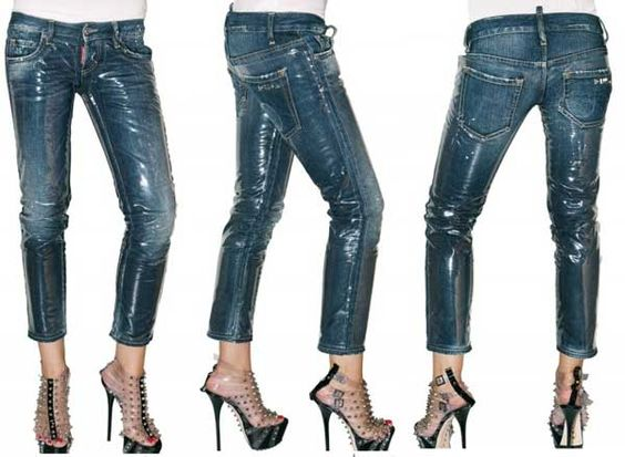 Wipe-Clean Clothes: DSquared2 denim and PVC jeans > Women's ...