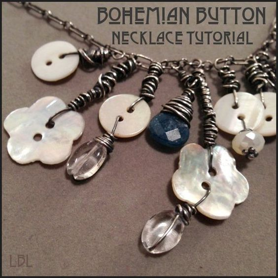 Bohemian Button Necklace Tutorial From Laura Beth Love