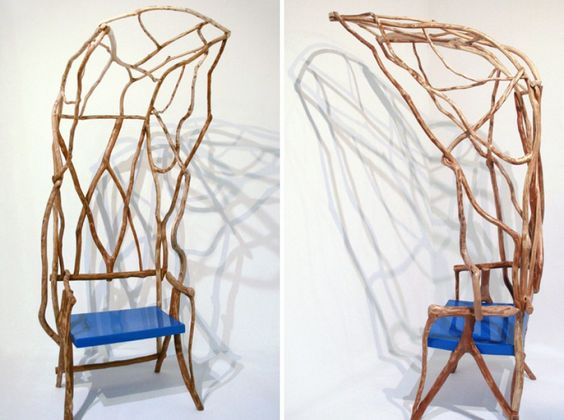 WILD BODGED CHAIRS / VALENTINA GONZÁLEZ WOHLERS - London-based valentina gonzález wohlers has created 'wild bodged chairs', a series of hand made seating objects that demonstrate the slow pace of an unfolding design process. By looking into reclaiming craft in contemporary creative practices, the project responds to the anonymous and the generic manufacturing techniques...