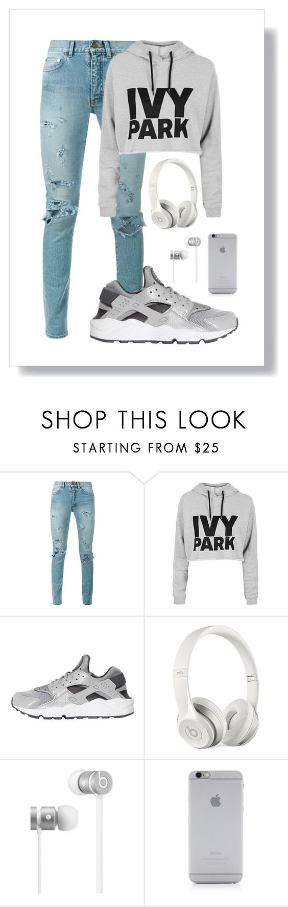 """""""Sans titre #107"""" by barbaradeveci ❤ liked on Polyvore featuring beauty, Yves Saint Laurent, Topshop, NIKE, Beats by Dr. Dre and Native Union"""