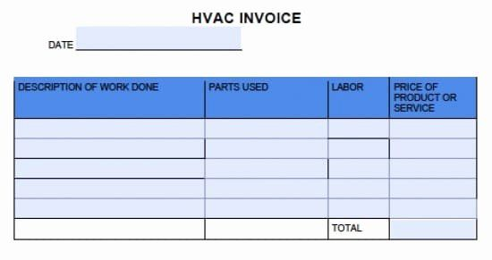 Hvac Service Order Invoice Template Awesome Template For Hvac Invoices Invoice Template Invoice Template Word To Do Lists Printable