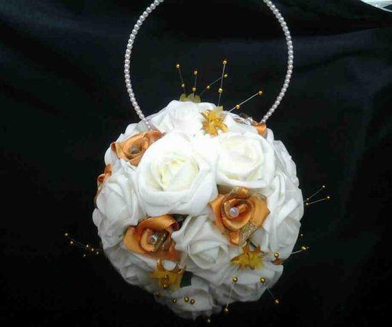 Bridesmaid Kissing Ball, Flower Girl Kissing Ball, Wedding Decor,pomander, Flower Girl Bouquet,
