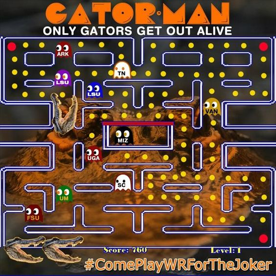 PAC-MAN used as a Florida Gators recruiting gimmick.