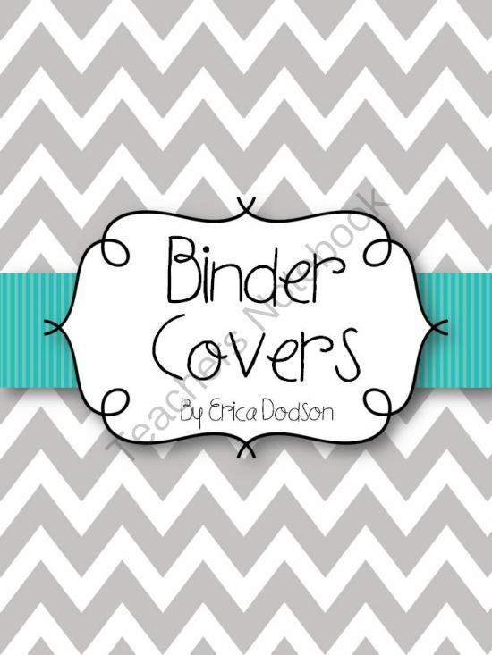Editable Gray Chevron Binder Covers Giveaway!! Enter for your chance to win 1 of 3.  Gray Chevron with Teal Teacher Binder Covers and Spines *EDITABLE* (68 pages) from Erica Dodson on TeachersNotebook.com (Ends on on 10-8-2014)  As a teacher, staying on top of the clutter can be tough!  This 63-page set of Editable Gray Chevron with Teal binder covers with editable spines will help you stay organized.  These covers can be placed into the front of 3-ring binders or placed in plastic sheet ...