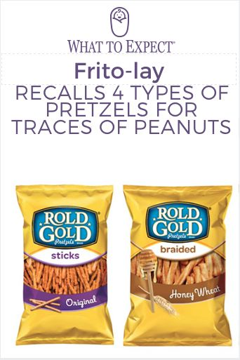 Frito-Lay, producers of Rold Gold pretzels, announced a recall that's especially concerning for parents of children with peanut allergies. #peanutallergy #foodrecall #whattoexpect | whattoexpect.com