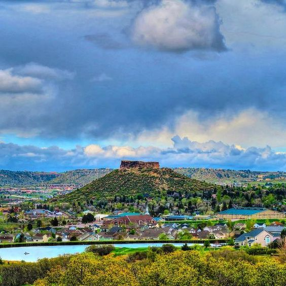 The wonderful town of Castle Rock, Colorado off I-25 North from Colorado Springs heading to Denver.