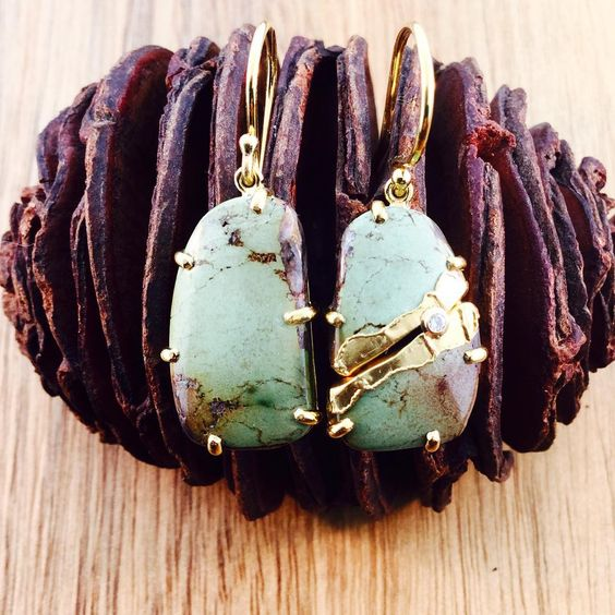 #goldenjoinery green turquoise will be @essenzaseattle this Saturday 11-7 #jamiejosephjewelry #newsustainableapproach #secondchances