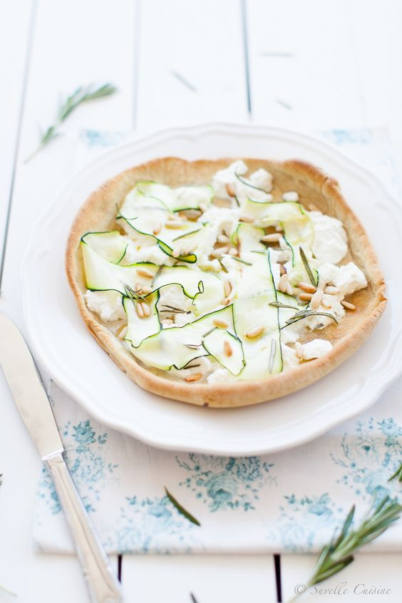 Pizza branca de Ricotta e Courgette... e o pouco tempo que restaby Suvelle Cuisine