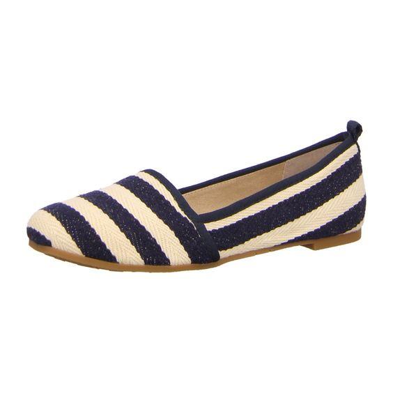 NEU: Tamaris Ballerinas Taurus - 1-1-24668-26-865 - navy stripes -