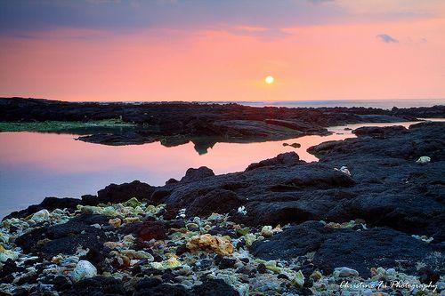 Honomalino Bay Sunset, Big Island, Hawaii