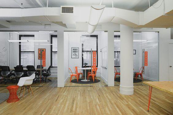 Het opnieuw ingerichte #kantoor van #TripleLift in New York door #ontwerpbureau #HomePolish.