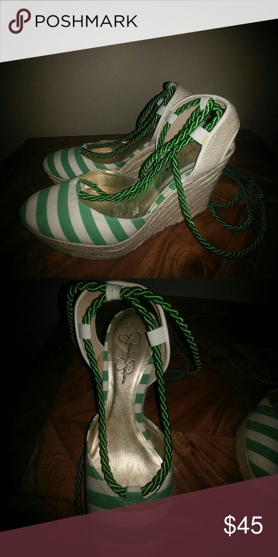 Shoes Green & white Jessica Simpson Espadrille Jessica Simpson Shoes Espadrilles