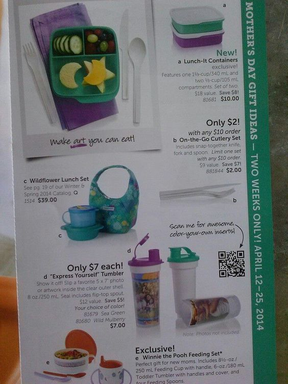 Check out our specials www.mytupperware.com/missweyand