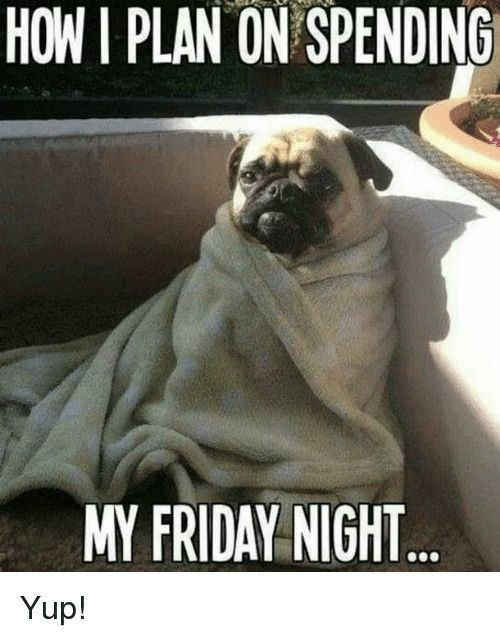 20 Friday Night Memes That Ll End Your Hard Week On A High Note Sayingimages Com Friday Night Meme Lazy Memes Friday Night