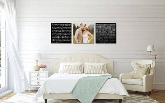 Wedding Vow Art, Wedding Vows on Canvas. These would make a great photo prop too!! #weddingvows #weddingvowart #weddingphotoprop